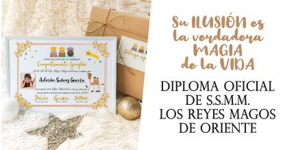 Diploma Oficial Buen Comportamiento de los Reyes Magos de Oriente