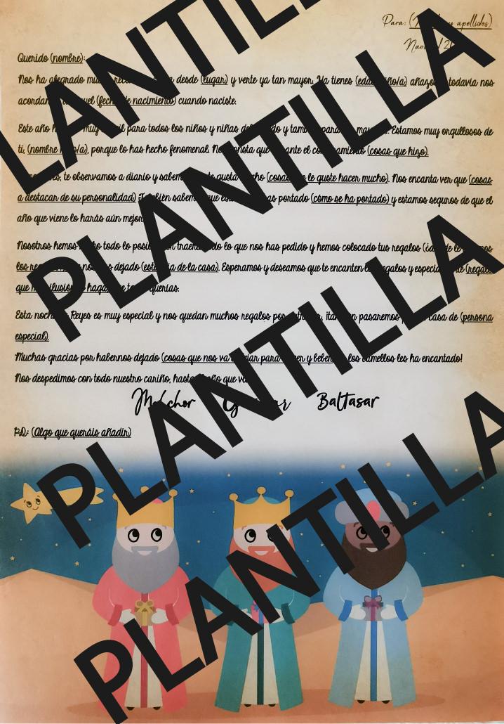 PLANTILLA CARTA PERSONALIZADA